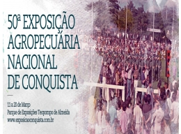 50ª Expo Conquista 2016 - De 11 a 20 de março em Vitória da Conquista-BA